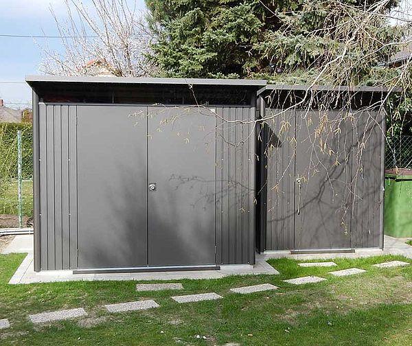 Biohort Gartenhaus aus Metall AvantGarde 2x, Gerätehaus