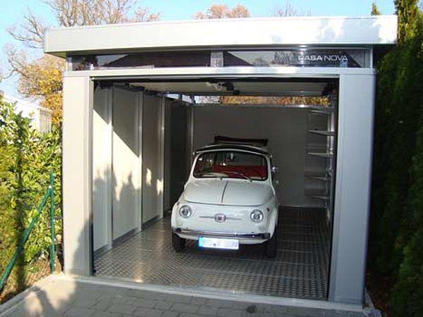 Biohort Design Gartenhaus CasaNova silber Garage