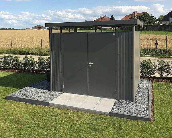 Biohort Gartenhaus HighLine dunkelgrau-metallic - Geraetehaus H4