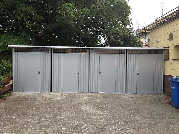 Biohort Gartenhaus aus Metall AvantGarde, silber 4x