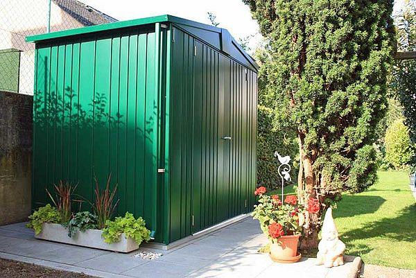 Biohort Gartenhaus Europa dunkelgruen Geraetehaus