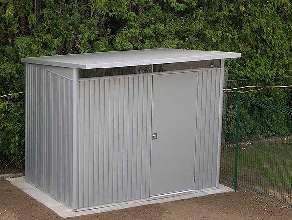 Biohort Gartenhaus aus Metall AvantGarde, Gerätehaus silber-metallic