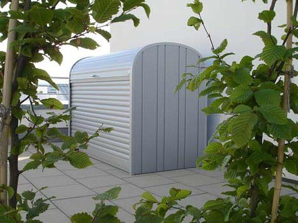 Biohort StoreMax silber-metallic, Muelltonnenbox
