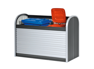 Biohort StoreMax 160 dunkelgrau-metallic, Muelltonnenbox