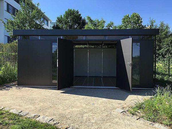 Biohort Design Gartenhaus CasaNova dunkelgrau Kundenfoto
