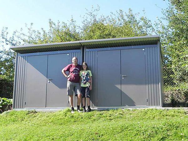 Biohort Gartenhaus aus Metall AvantGarde, Gerätehaus 2x