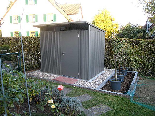 Gerätehaus AvantGarde Größe L quarzgrau-metallic