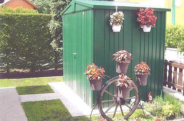 Biohort Metall-Gerätehaus Europa, Gartenhaus dunkelgrün Kundenfoto