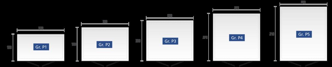 Gerätehaus Panorama - verfügbare Größen