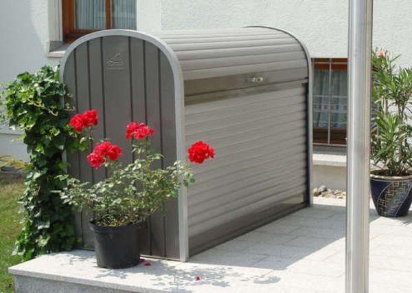 Biohort StoreMax 160 quarzgrau-metallic, Muelltonnenbox, Fahrradgarage