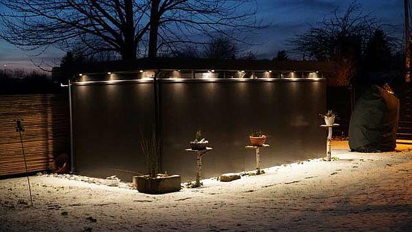 Biohort Design Gartenhaus CasaNova dunkelgrau mit Beleuchtung