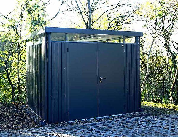 Biohort Gartenhaus HighLine dunkelgrau-metallic - Geraetehaus