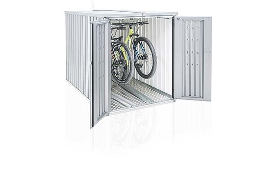 Garaža za kolesa Biohort MiniGarage srebrna