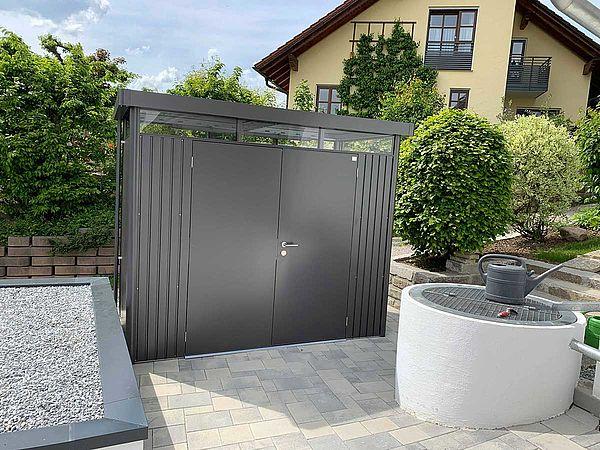 Biohort Gerätehaus HighLine H1 / Metall-Gartenhaus