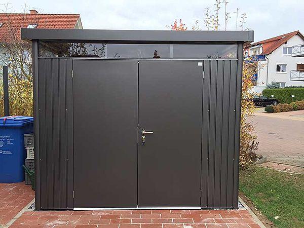 Biohort Gartenhaus HighLine dunkelgrau-metallic - Geraetehaus H2
