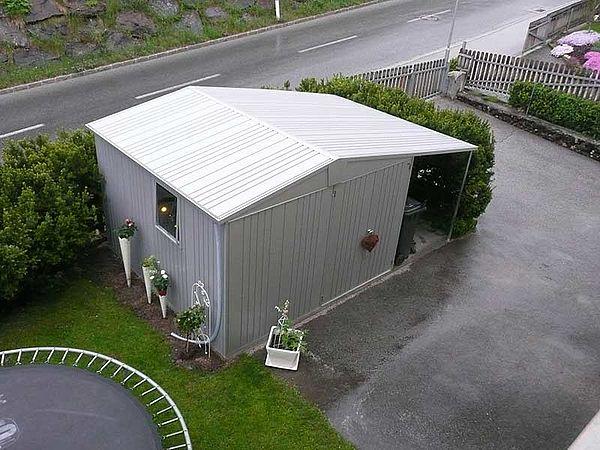 Biohort Metall-Gerätehaus Europa, Gartenhaus silber