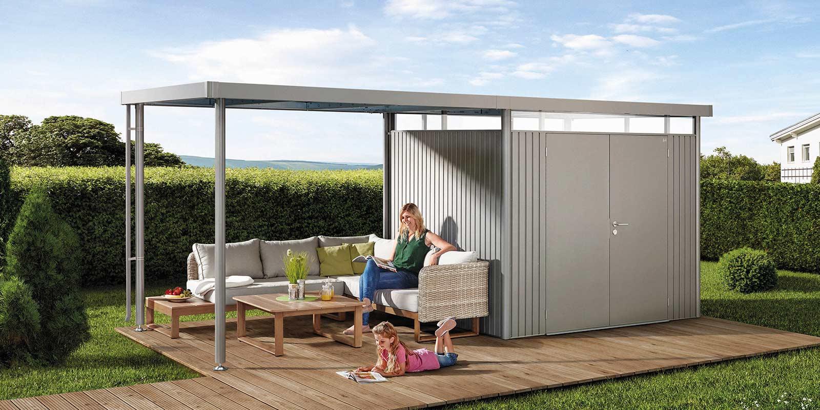 Biohort - Moderne Gerätehäuser, Gartenhäuser und Boxen aus Metall ...