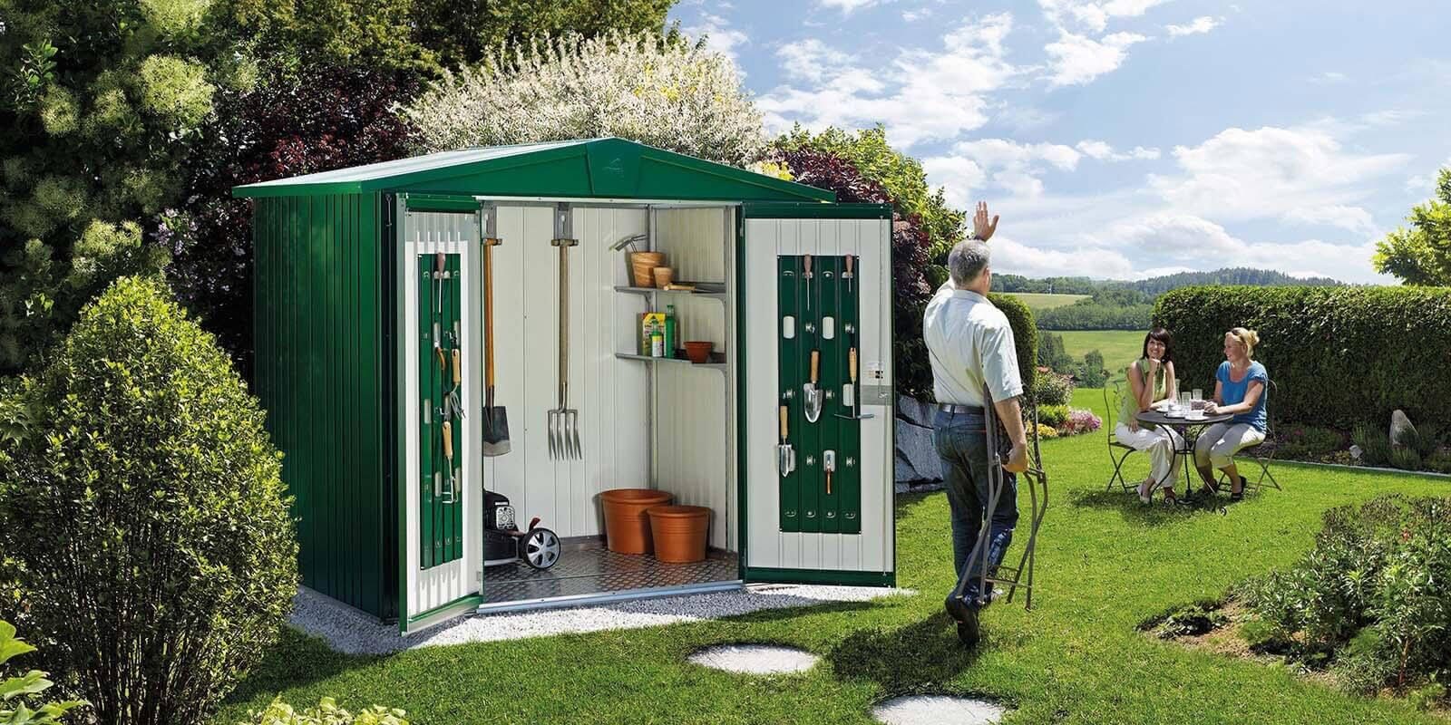 moderne ger teh user gartenh user und boxen aus metall biohort. Black Bedroom Furniture Sets. Home Design Ideas