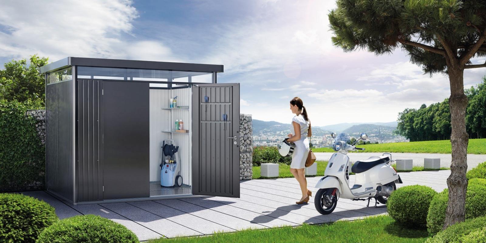 gartenhaus aus blech gl56 hitoiro. Black Bedroom Furniture Sets. Home Design Ideas