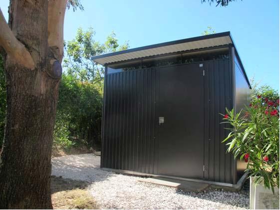 metal garden shed avantgarde biohort. Black Bedroom Furniture Sets. Home Design Ideas