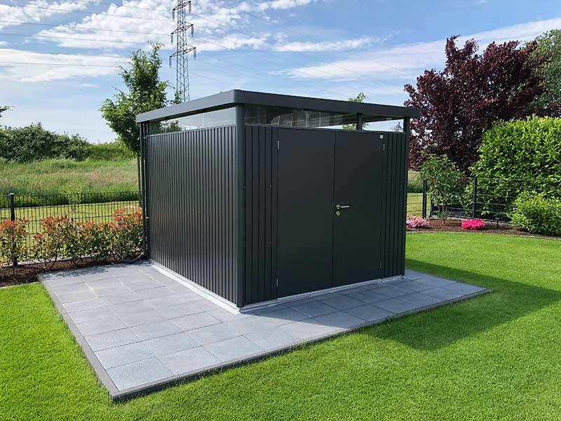 biohort highline metal tool shed metal garden shed. Black Bedroom Furniture Sets. Home Design Ideas