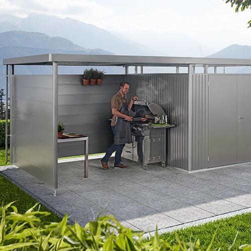 Seitenwände für Seitendach Biohort Metall-Gartenhaus HighLine