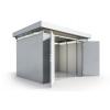 Biohort Gartenhaus aus Metall CasaNova 3x3 silber-metallic mit 2. Türflügel -  2. Türflügel gegen Aufpreis erhältlich