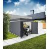 Biohort Gartenhaus aus Metall CasaNova 3x4 dunkelgrau-metallic Doppeltüre