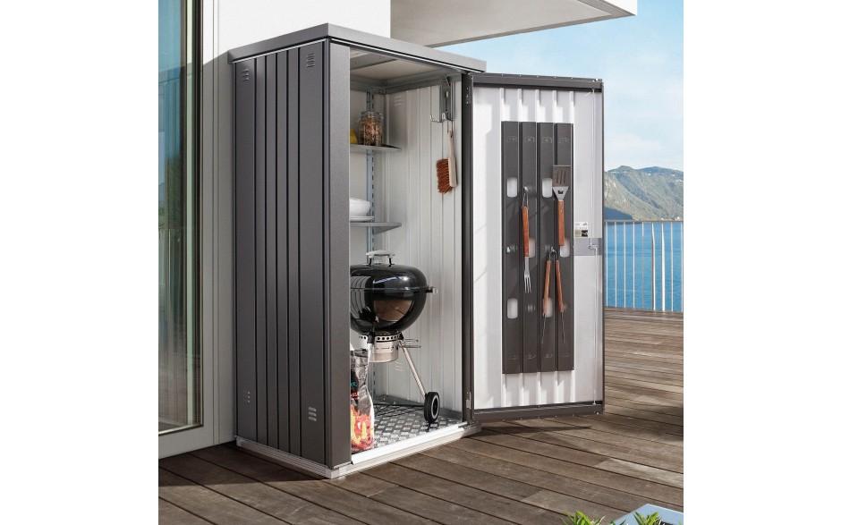ger teschrank 90 dunkelgrau metallic ger teschrank. Black Bedroom Furniture Sets. Home Design Ideas