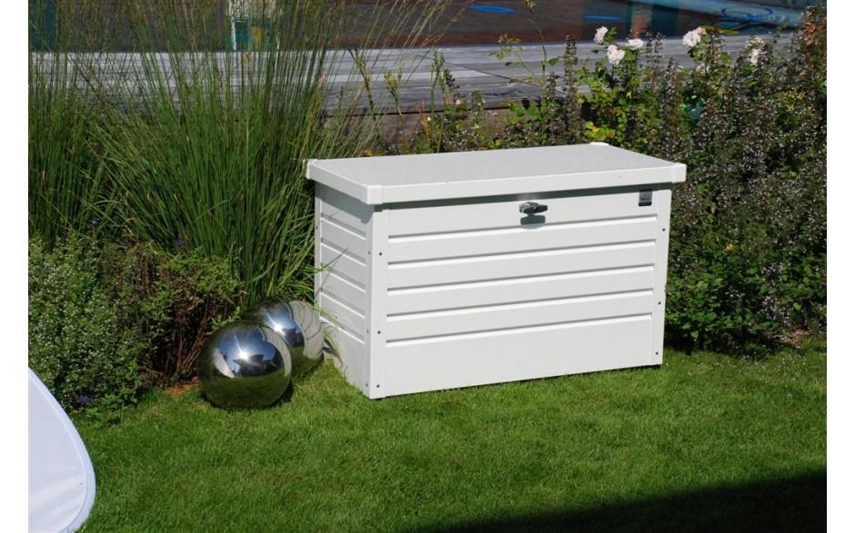 FreizeitBox Gr. 100 in weiß -  Mit robustem, glatten Deckel zum einfachen Reinigen und Abwischen!