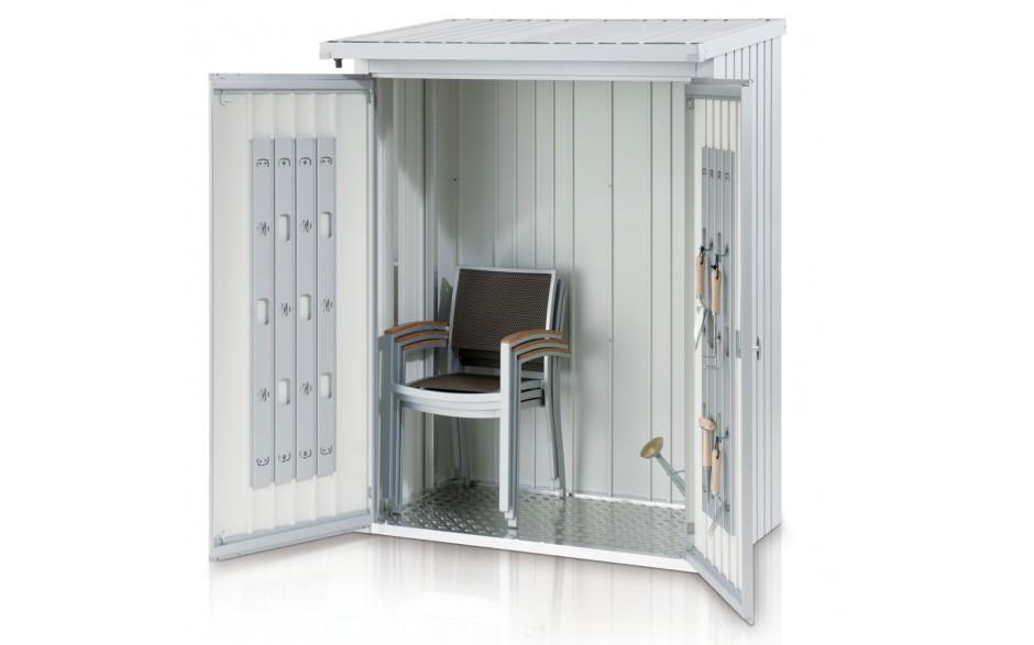 WoodStock 150 mit Rückwand und Türpaket - Viel Platz für Gartenmöbel und -geräte