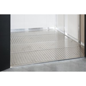 Aluminium floor panels