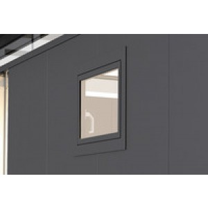 Tilt and turn window CasaNova metallic silver left
