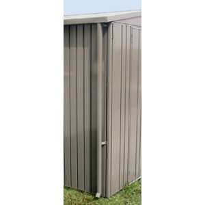 Rain water downpipe set for garden shed Europa