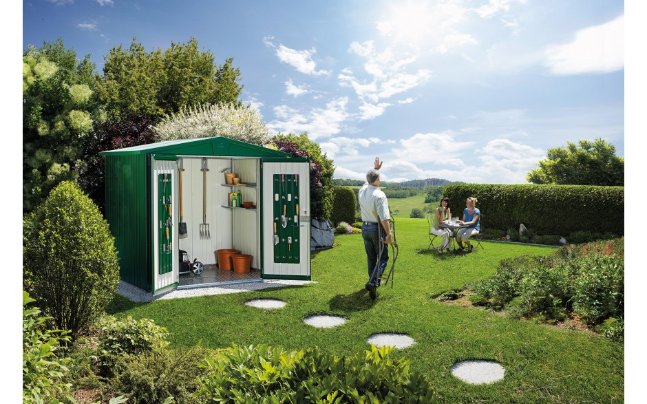Garden shed Europa size 3 in dark green