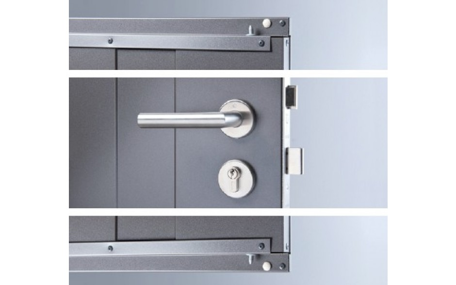 stainless steel door handle with standard cylinder