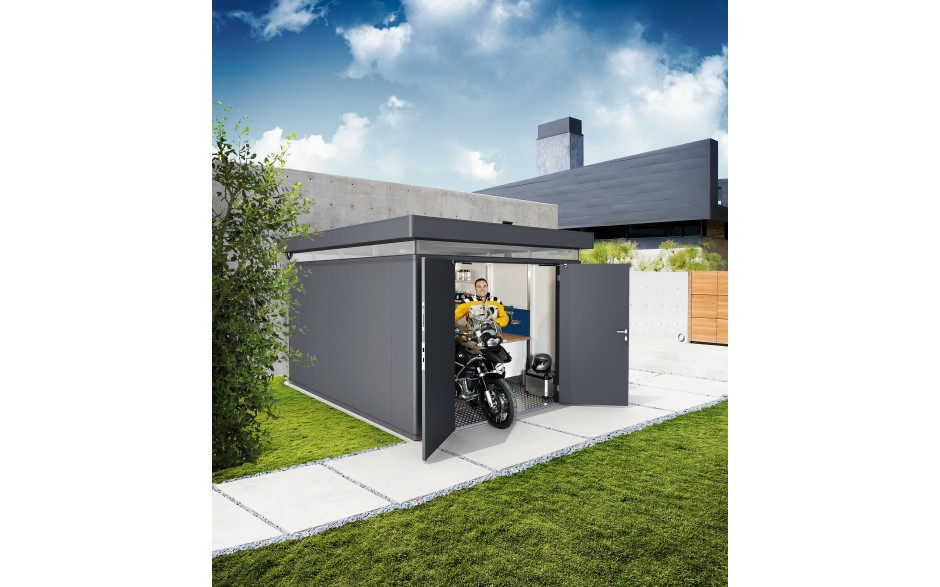 CasaNova 3x4 in metallic dark grey motorbike garage