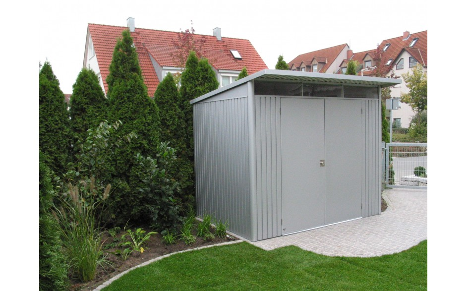 Garden Shed AvantGarde Size L in metallic-silver