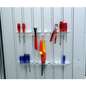 Cobertizo met lico para herramientas biohort for Cobertizo de herramientas