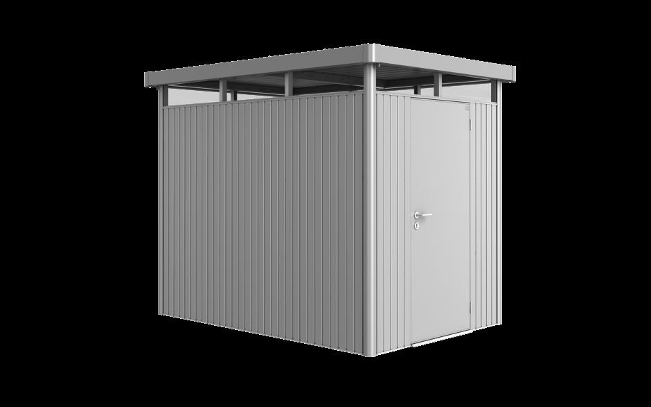 HighLine in Größe H2 in silber-metallic Größe H2 Standardtüre - kann anstelle eines Seitenwandelementes eingebaut werden.