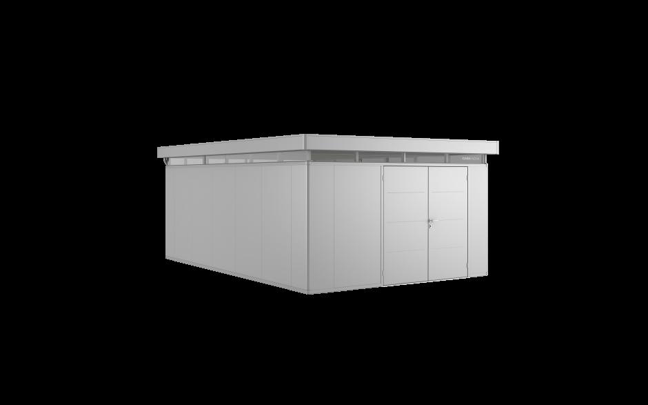 CasaNova 4x6 en plata metalizada con doble hoja de puerta.