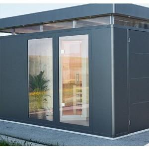 NEW: Full length glazed wall elements metallic dark-grey