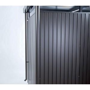 Descente d'eaux pluviales Gerätehaus HighLine® gris foncé métallique (2 pièces)