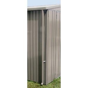 Descente d'eaux pluviales l'abri de jardin Europa gris quartz métallique