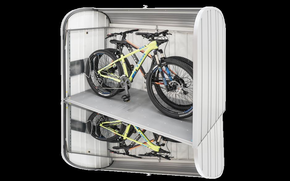 """StoreMax 190 mit Fahrradständer """"bikeHolder"""" (als Zubehör erhältlich)"""