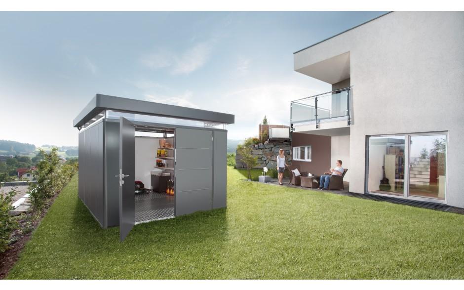 CasaNova 3x4 gris foncé métallique avec double portes