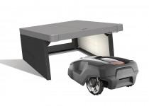 Biohort robotic lawn mower garage Charly
