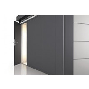 Porta opzionale CasaNova argento metallizzato destra