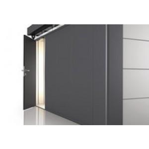 Porta opzionale CasaNova grigio scuro metallizzato sinistra