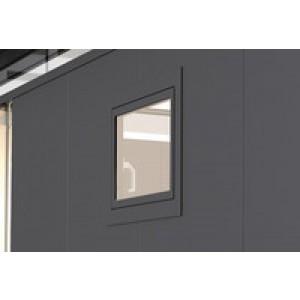 Finestra ribaltabile CasaNova grigio scuro metallizzato sinistra